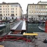 Il ponte curto, ovvero la passerella di Ponterosso.