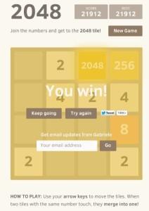 2048 il rompicapo matematico, semplice e accattivante