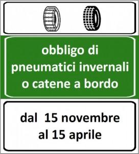 15 novembre. … 40 anni fa – Obbligo pneumatici catene NEVE