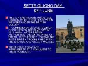 """7 giugno … anni fa – Festa Nazionale a Malta """"Sette Giugno"""""""