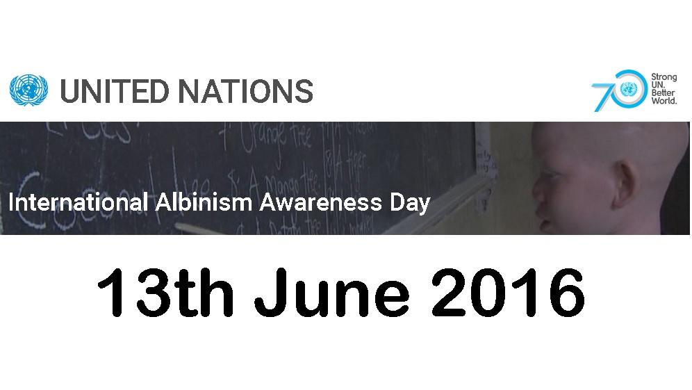 13 giugno … anni fa – Giornata dell'Albinismo – Auguri Antonio
