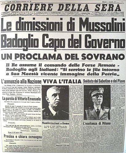 25 luglio … anni fa – Dimissioni di Mussolini – Andrea Doria speronata