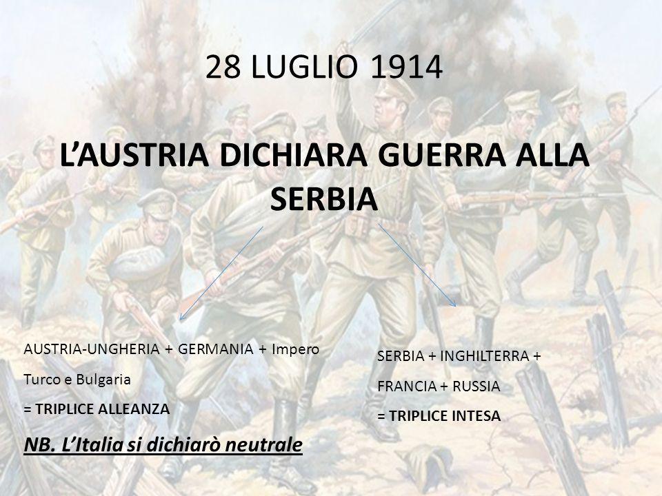28 luglio … anni fa – Scoppia la Grande Guerra – Centenario   Padre Pio – Battaglia di Otranto