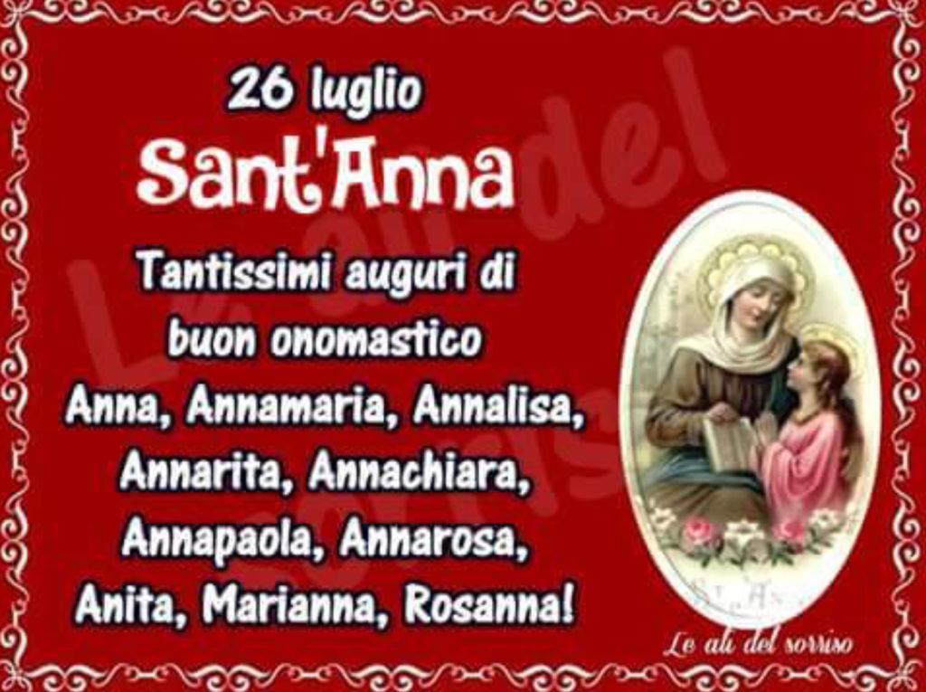 Anna Una Santa Importante Buon Onomasticoluxlucis Luxlucis