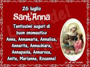 Anna, una Santa importante. Buon onomastico!